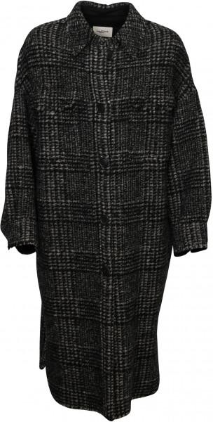 Women's Isabel Marant Étoile Check Coat Gabrion Black/Dark Grey
