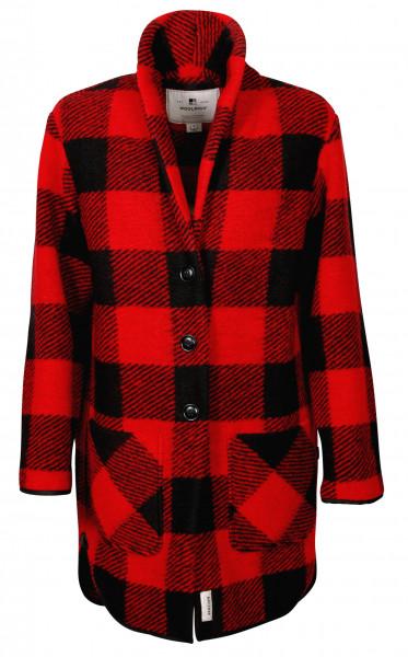 Women's Woolrich Gentry Coat Red Black Buffalo