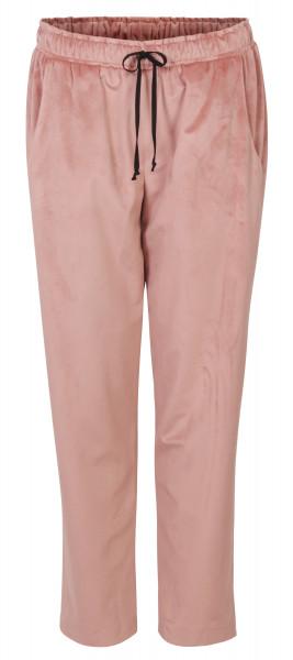 Shirtaporter Samt Hose Tunnelzug rosé