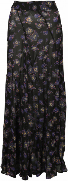 Women's Ganni Maxi Skirt Black Floral
