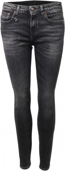 R13 Alison Skinny Jeans grauschwarz