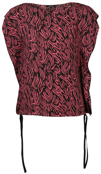 Women's Nikkie Top Sandy Black/Blushpink Printed