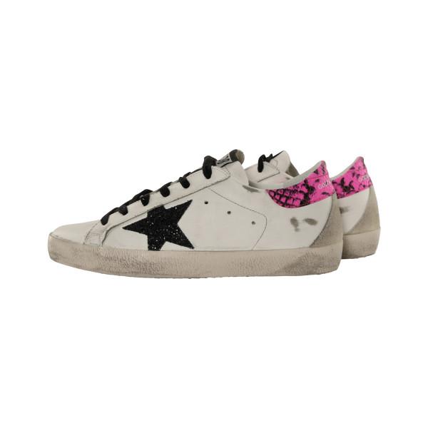 Women's Golden Goose Sneaker Superstar White/Fuxia