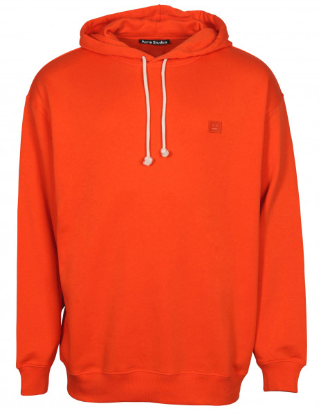 Unisex Acne Studios Hoodie Farrin Face Dark Orange