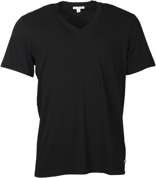 Men's James Perse T-Shirt V-Neck Black