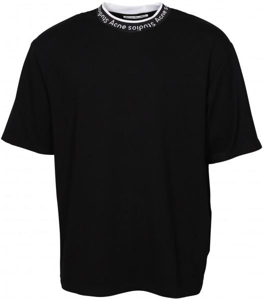 Acne Studios T-Shirt Extorr Logo Rib Black