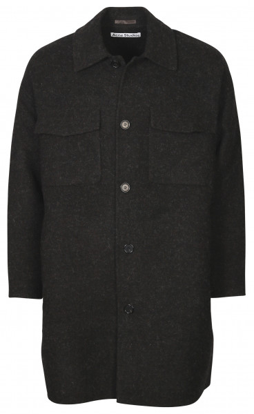 Men's Acne Studios Coat Damman Double Anthracite