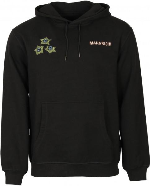 Men's Maharishi Hoodie Embroidery Black