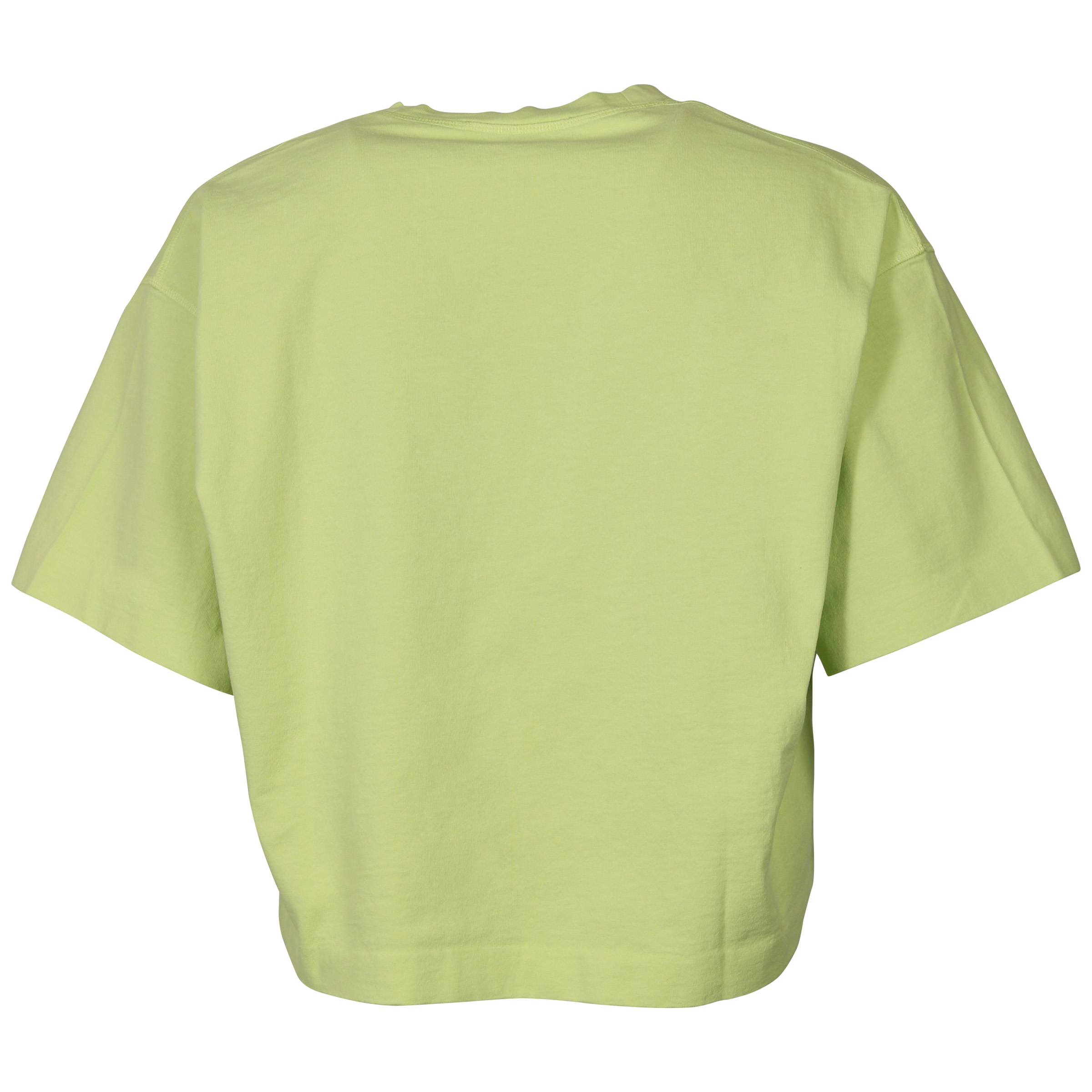 Women S Acne Studios Cropped T Shirt Cylea Lime Green Hechler Nickel