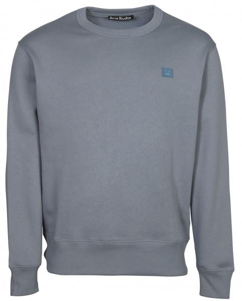 Unisex Acne Studios Sweatshirt Fairview Face Mineral Blue