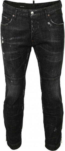 Men's Dsquared Jeans Biker Ski Black Washed