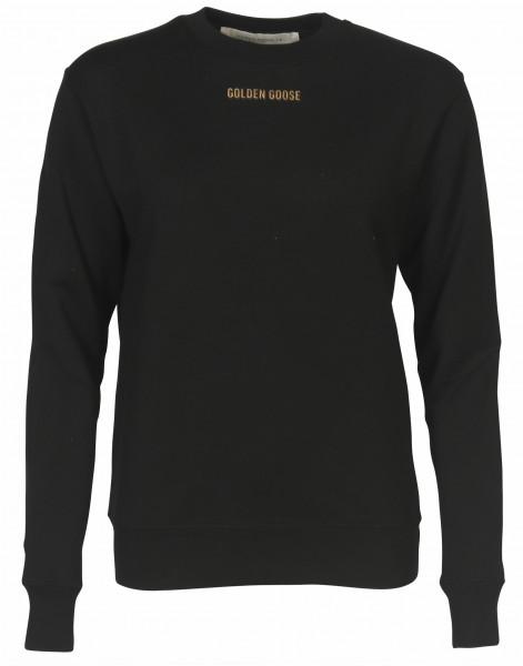 Women's Golden Goose Sweatshirt Sharon Black Printed