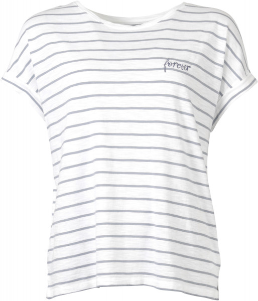 Juvia Lounge Wear Boxy T-Shirt gestreift