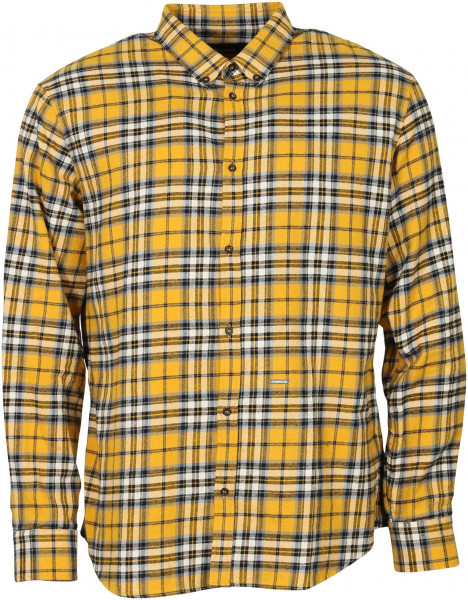 Men's Dsquared Check Shirt Yellow