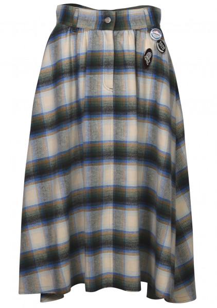 Women's Golden Goose Check Skirt Adele Multicolour