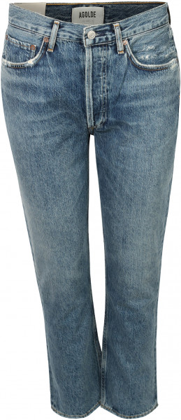 Women's Agolde Jeans Riley Frequency Blue Wash