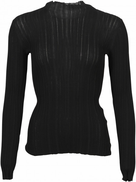 Women's Acne Studios Turtle Rib Sweater Kana Black