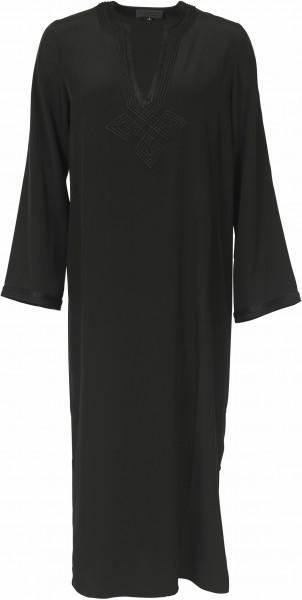 Women's Nili Lotan Silk Dress Moroccan Black Embroidered