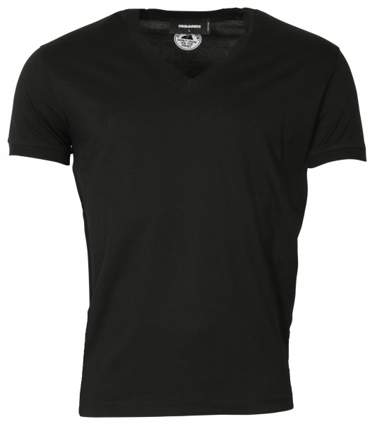 Men's D2 Dsquared T-Shirt V Neck black