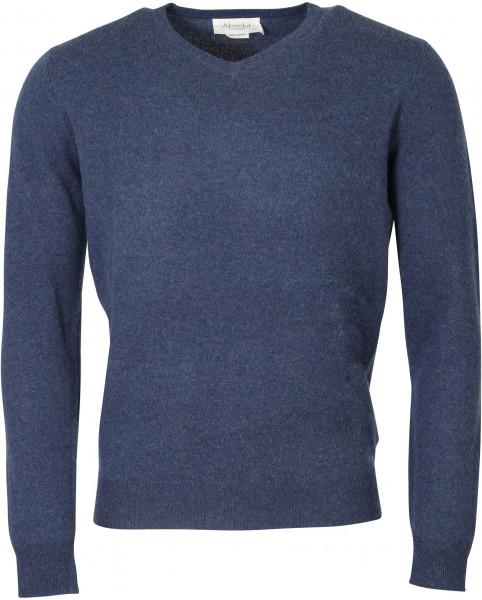 Men's Absolut Cashmere V-Neck Pullover Blue