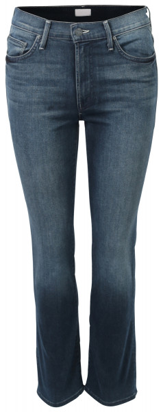 MOTHER Jeans Insider Crop midblue