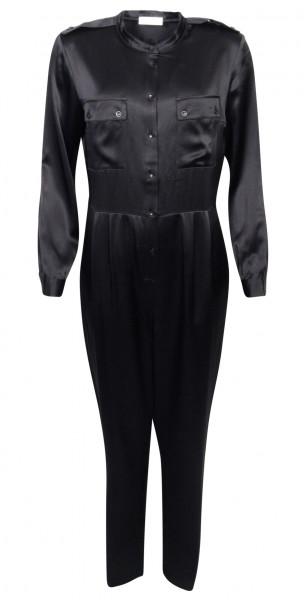 Women's Anine Bing X Helena Christensen Silk Jumpsuit Rosalie Black