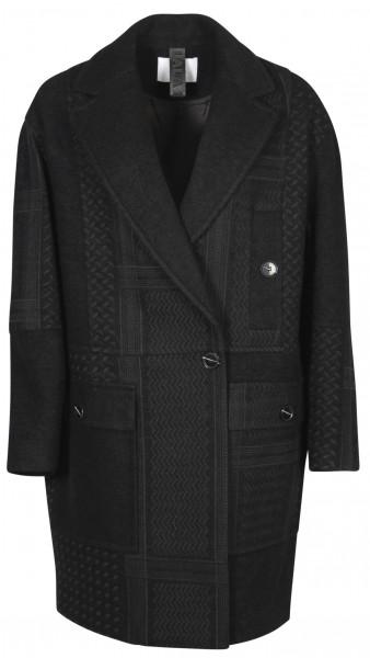 Women's Lala Berlin Coat Camden Black Kufiya Embroidered