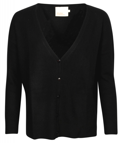 Women's Absolut Cashmere Cardigan Gilet Black
