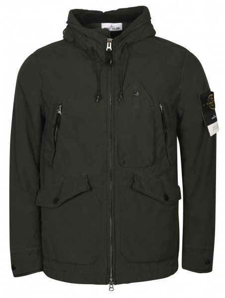 Men's Stone Island David Light TC Jacket With Micropile Olive
