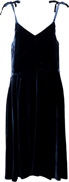 Golden Goose Samtkleid blau
