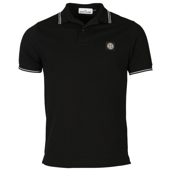 Men's Stone Island Polo Shirt Black