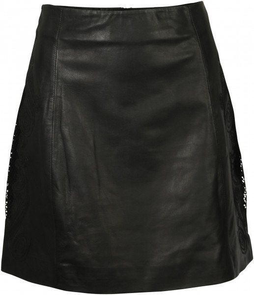 Women's Nikkie Leather Skirt Madrid Black