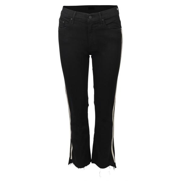 MOTHER Jeans Insider Crop Step Fray schwarz