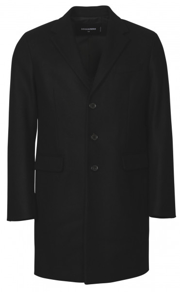 Men's Dsquared Wool Coat Black