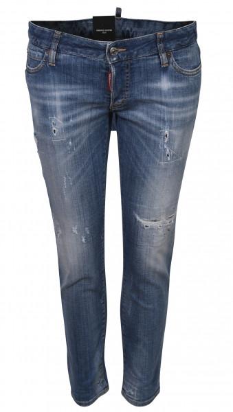 Women's Dsquared Jeans Jennifer Cropped Jean Lightblue Washed
