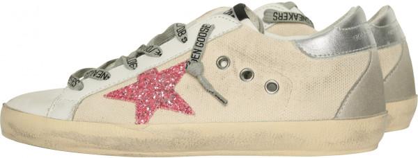 Women's Golden Goose Sneaker Superstar Beige/Pink
