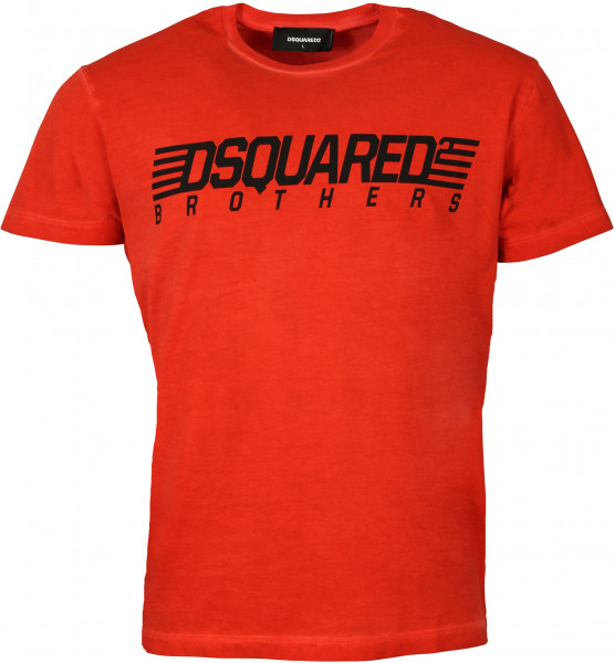 Men's Dsquared T-Shirt Red Printed