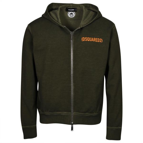Men's Dsquared Zip Jacket Hooded Olive