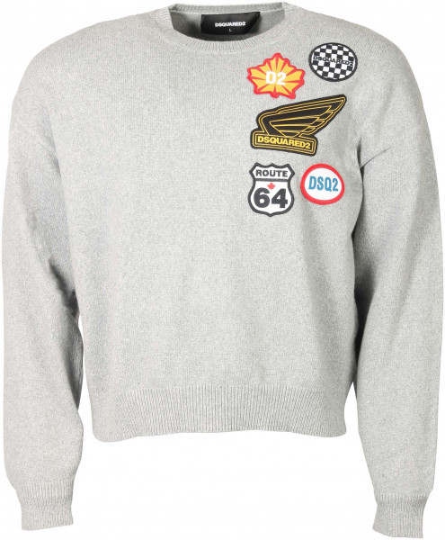 Men's Dsquared Pullover Grey Patched