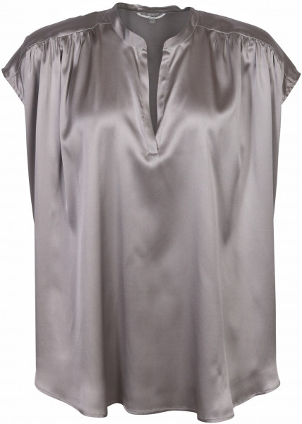Women's Sophie Silk Blouse Maxi Silver