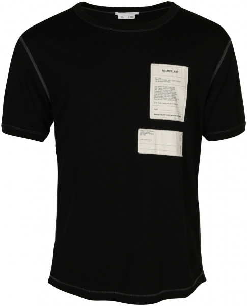 Men's Helmut Lang T-Shirt Black/White Patched