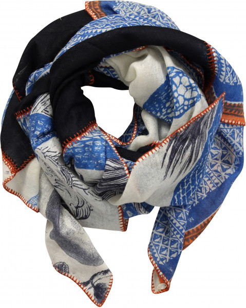 Women's Friendly Hunting Patch Scarf Multicolour