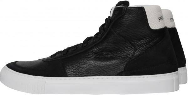 Stone Island High Top Sneaker schwarz/weiß