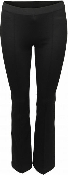 Women's Helmut Lang Cropped Flare Rib Leggings