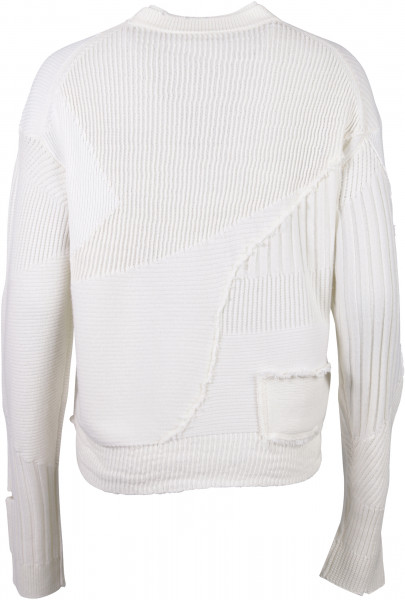 Women's Helmut Lang Patchwork Pulli offwhite