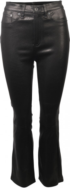 Rag & Bone Lederhose High Rise Pants schwarz