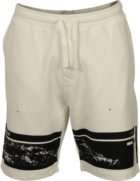 Men's Stone Island Sweat Shorts Offwhite Printed
