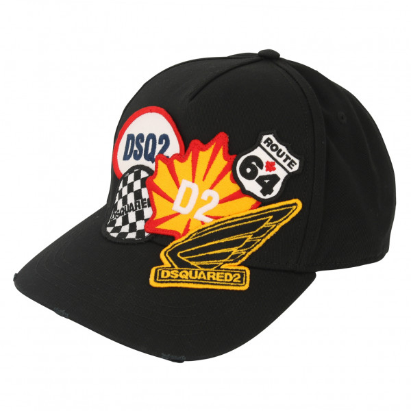 Dsquared Baseball Cap Black Patched1