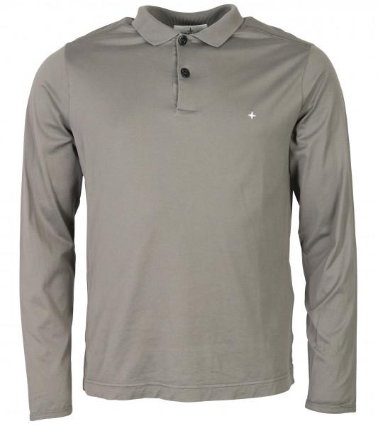 Men's Stone Island Polo Longsleeve Grey