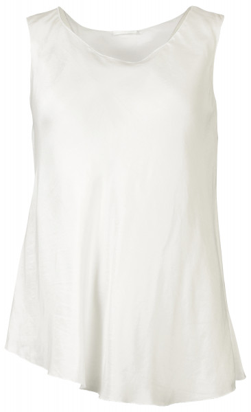 Susanne Bommer Silk Tank Top Clear White